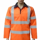 FR-HI-VIS-AS-ARC Orange Rugby Top