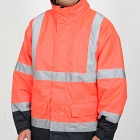 FR, AS, Hi-Vis Orange Wet Weather Jacket