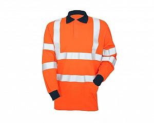 --FRA200HVAT-- Flame Resistant, AS, Hi-Vis & Arc Orange Polo Shirt