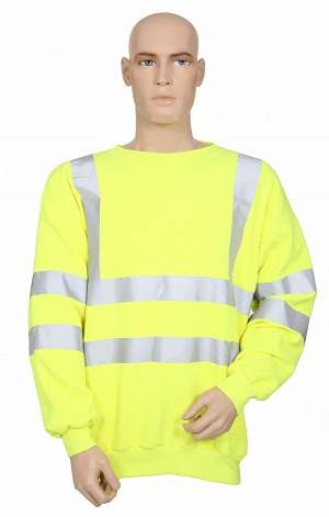 FR, Antistatic, Hi-Vis, Yellow Sweatshirt