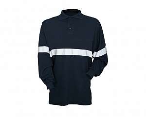 --FRA201H(A)S-- Flame Resistant & Antistatic Stripe Polo Shirt