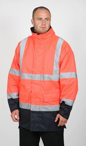FR, AS, Hi-Vis Orange Wet Weather Jacket