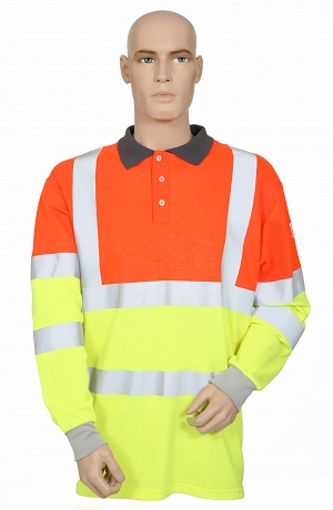 FR, AS, Hi-Vis 2 Tone Polo Shirt