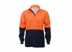 ----FRA200ARC(OA)---- Flame Resistant, AS & Arc Zip Neck Polo Shirt