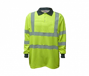 --FRA201HV(G)T-- Flame Resistant, AS & Hi-Vis Loop Polo Shirt