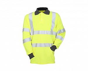 --FRA200HV(G)T-- Flame Resistant, Antistatic & Hi-Vis Polo Shirt