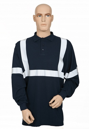FR AS Polo Shirt with Reflective Tape