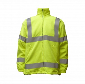 ---FRA211HVL--- Flame Resistant, Antistatic & Hi-Vis Lined Fleece