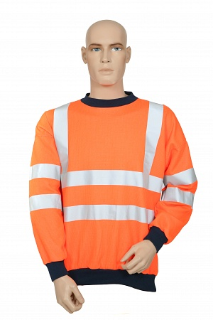 FR-AS-HI-VIS ORANGE SWEATSHIRT